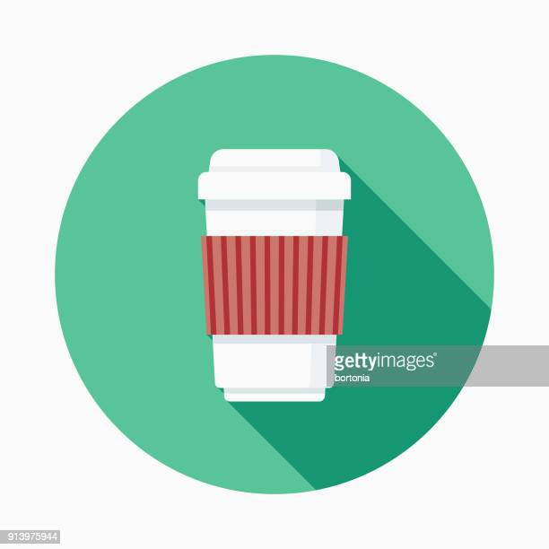 Coffee Flat Design Fast Food Icon