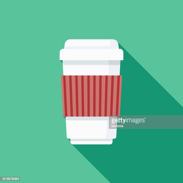 Coffee Flat Design Fast Food Icon