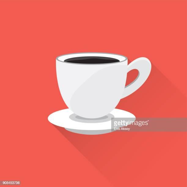ilustrações de stock, clip art, desenhos animados e ícones de coffee flat icon - mesa cafe da manha