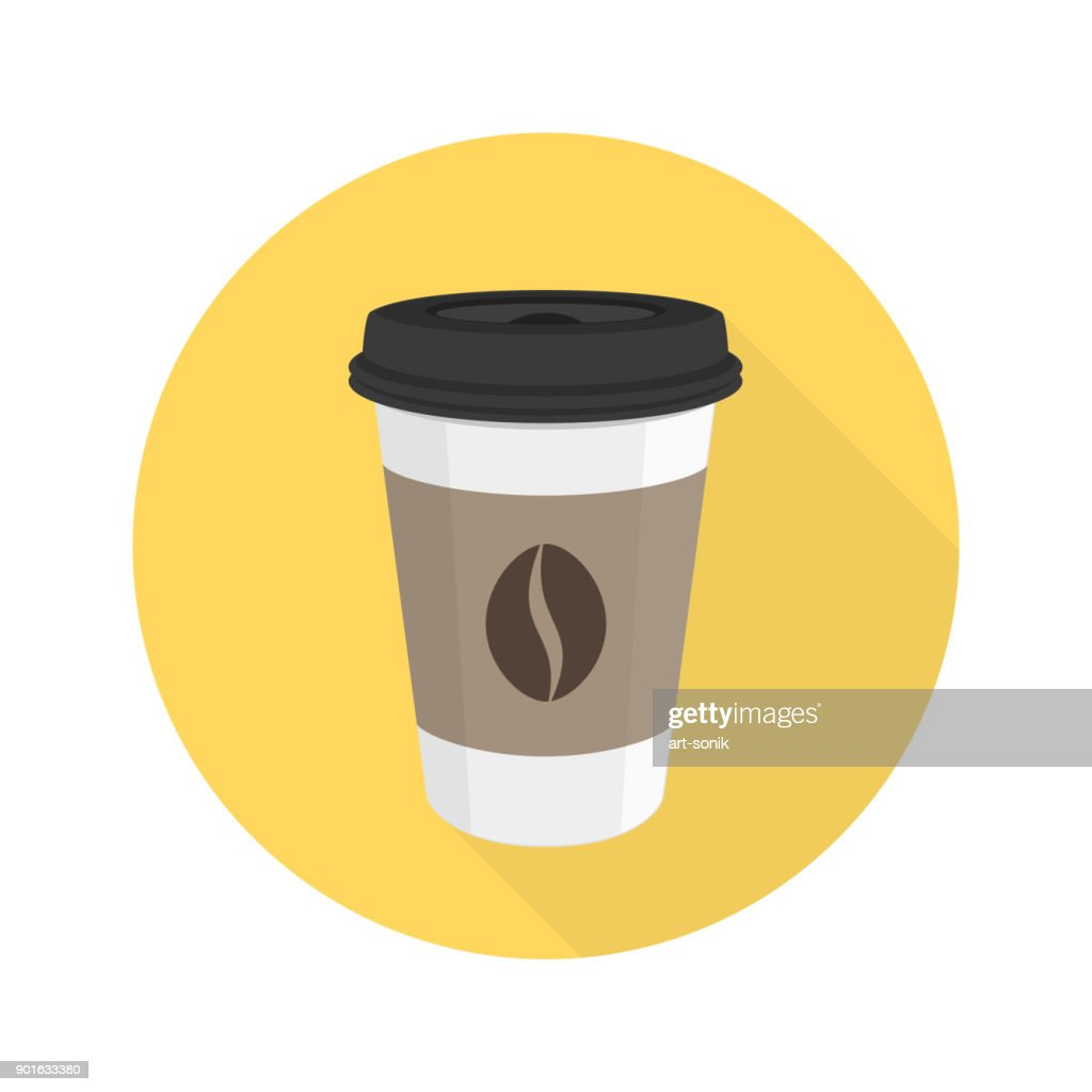 Coffee flat vector icon.