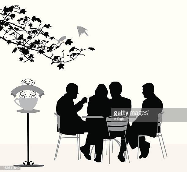 Coffee House Vector Silhouette