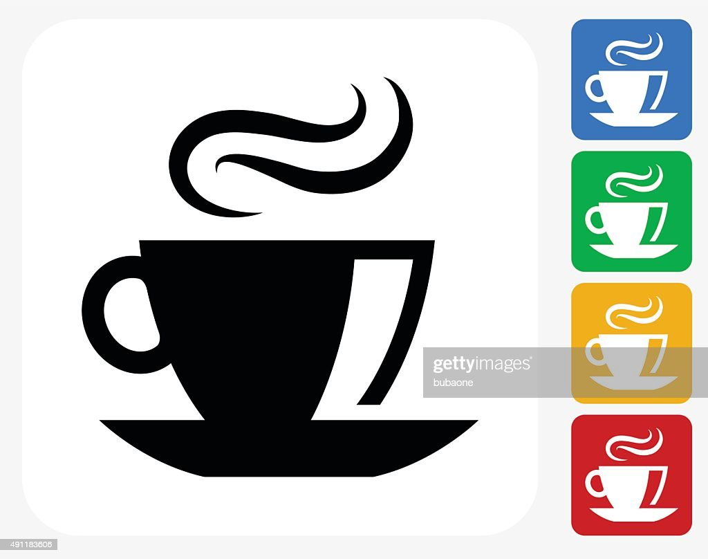 Coffee Icon Flat Graphic Design