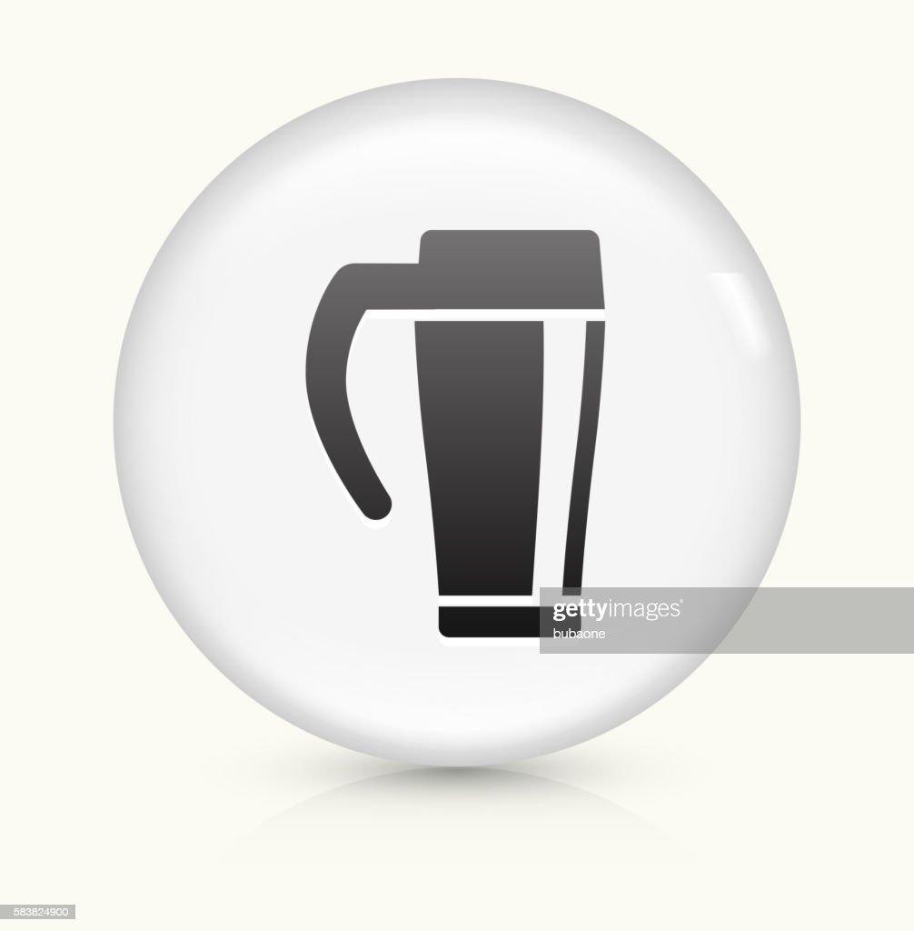 Coffee icon on white round vector button