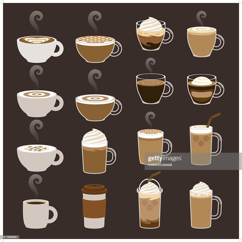 coffee icon sets : stock illustration