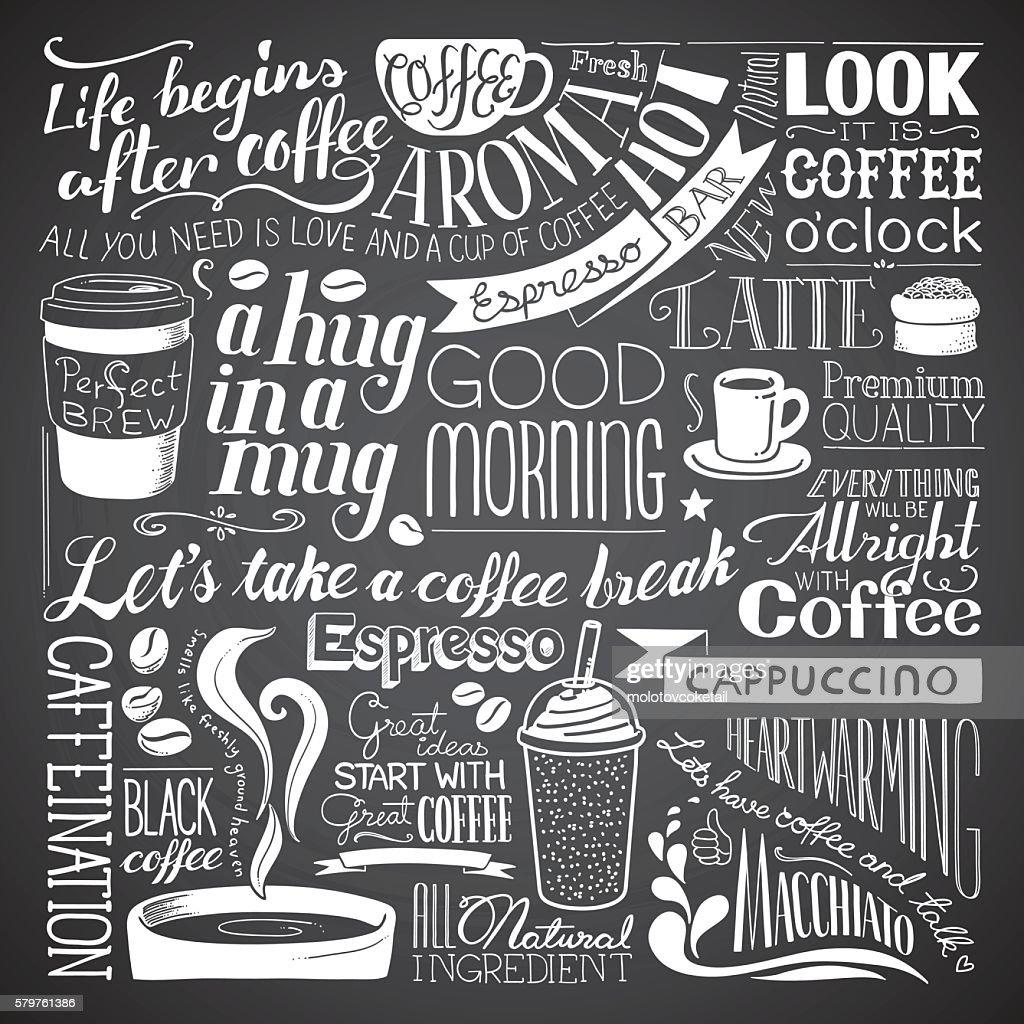 coffee icon wallpaper : stock illustration