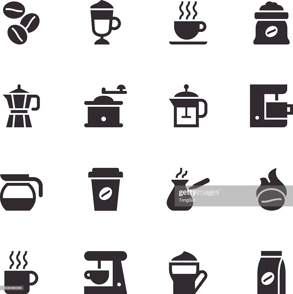 Coffee Icons - Black