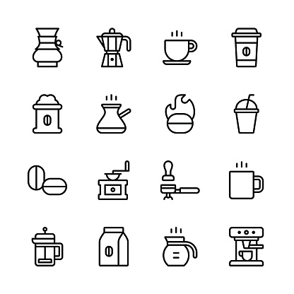 Coffee icons - line - gettyimageskorea