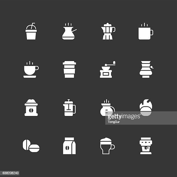 Coffee Icons - Unique - White
