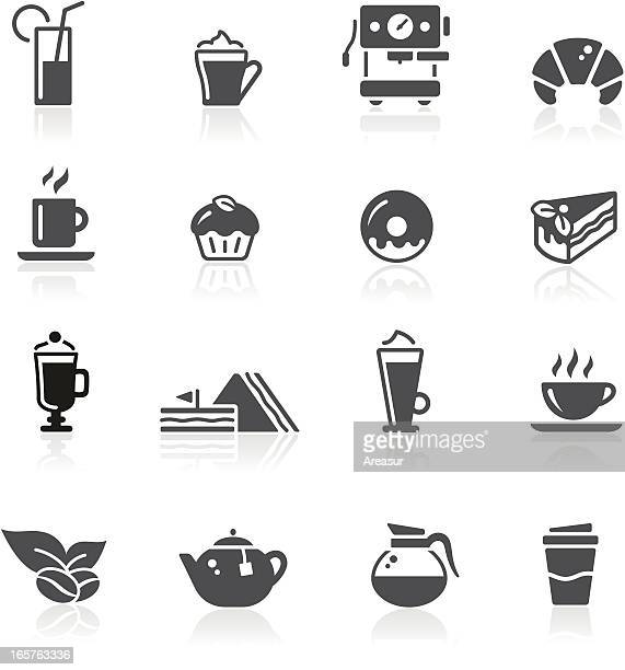 café icons - juice drink stock illustrations, clip art, cartoons, & icons