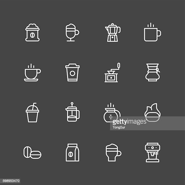 coffee icons - white series - sugar food stock illustrations, clip art, cartoons, & icons