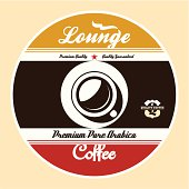 Coffee Lounge Label