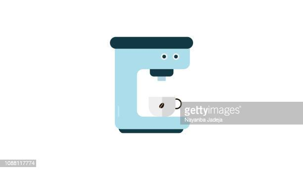 Coffee Machine icon with cup