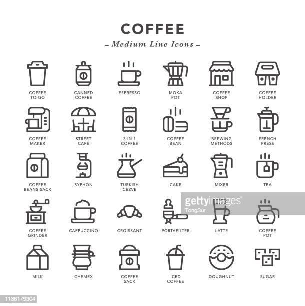Coffee - Medium Line Icons