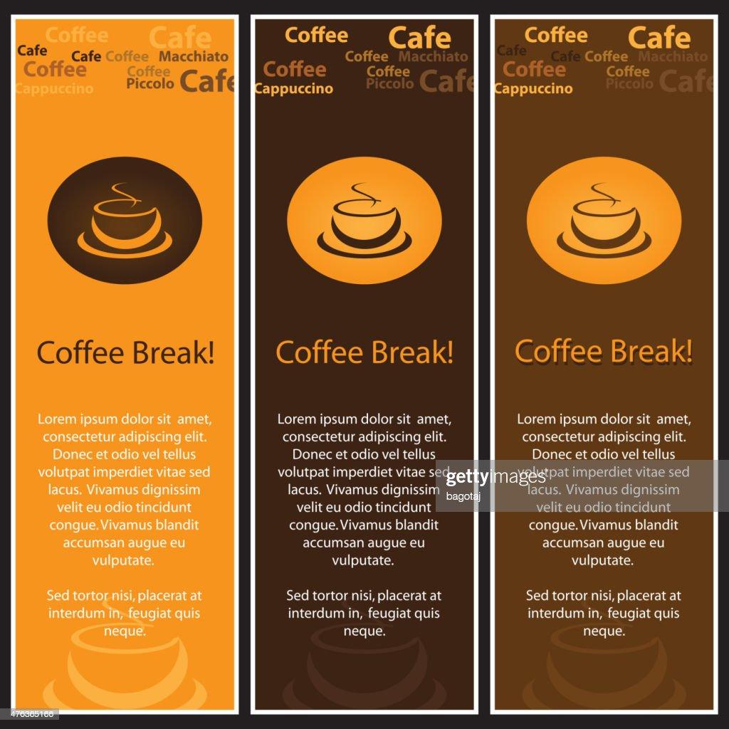 Coffee Menu Design Set