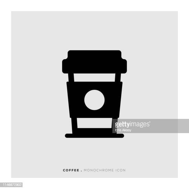 ilustrações de stock, clip art, desenhos animados e ícones de coffee monochrome icon - mesa cafe da manha