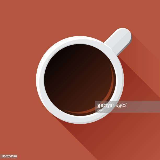 coffee mug - brown background stock illustrations