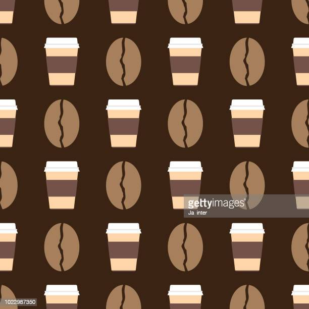 Coffee pattern background