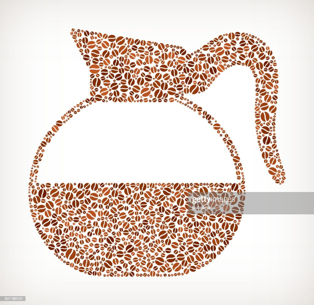 Coffee Pot Bean Pattern : Vector Art