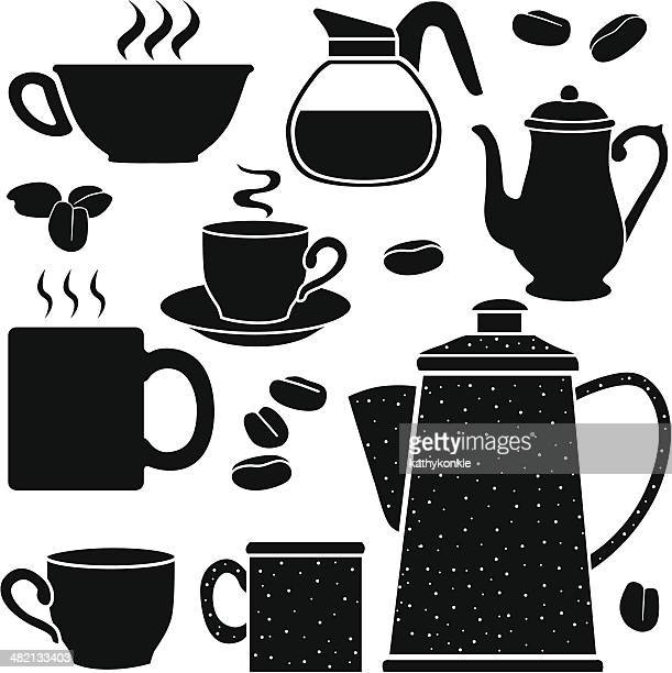 coffee pots and cups