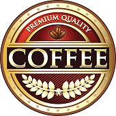 Coffee Red Premium Label