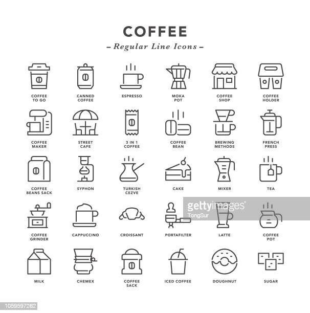 Coffee - Regular Line Icons