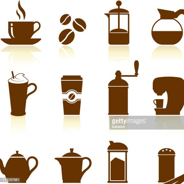 Coffee royalty free vector icon set