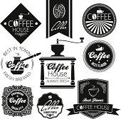 coffee set labels