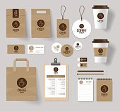 coffee shop and restaurant branding mock up template