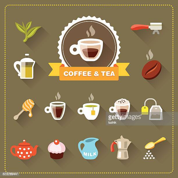 Coffee Shop - Coffee and Tea icon set
