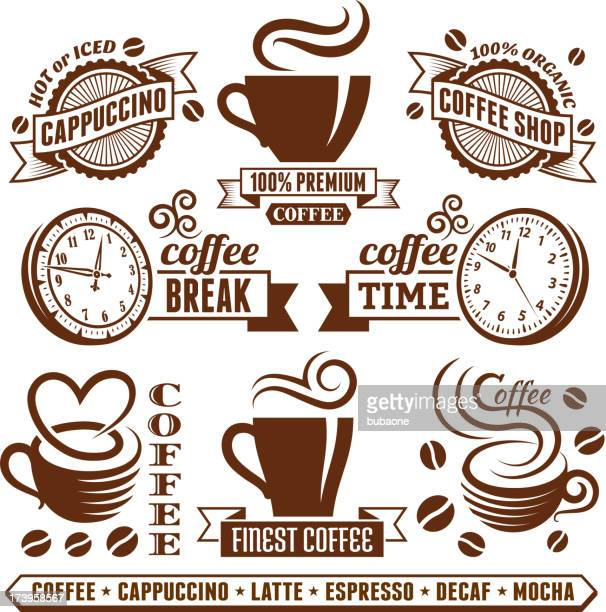 Coffee shop Elegant royalty free vector royalty-free vector arts Collection