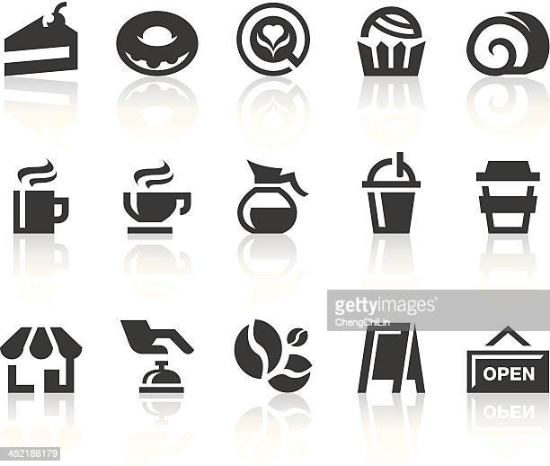 Coffee Shop Icons | Simple Black Series