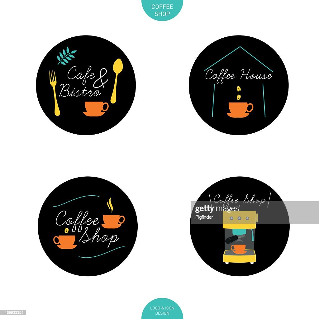 Coffee Shop Logo Design Element High Res Vector Graphic Getty Images