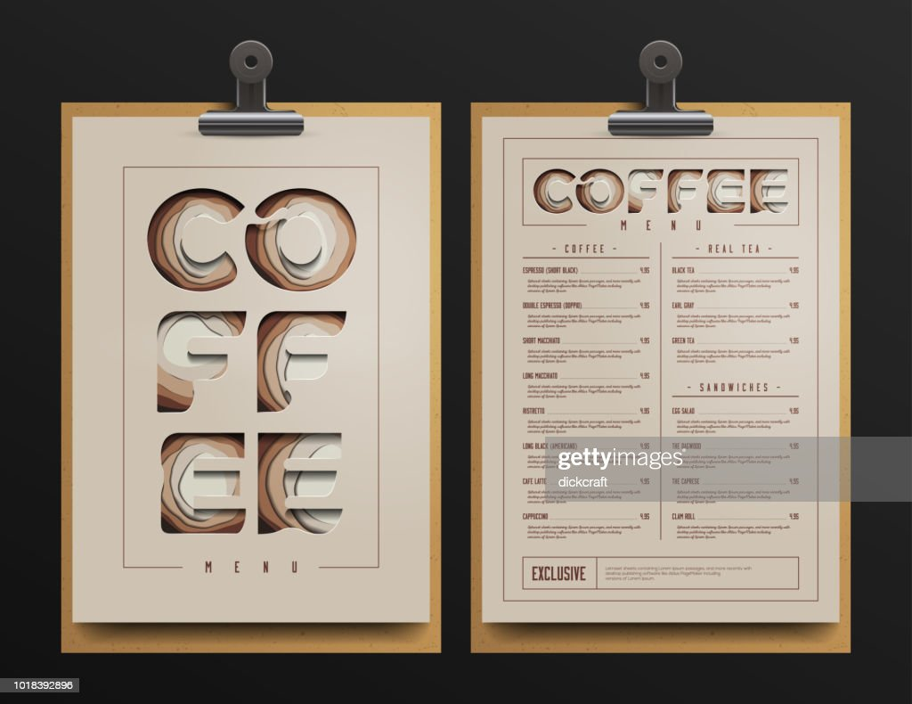 Coffee Shop Menu Template. Coffee cart Mock Up. Vector Illustration.
