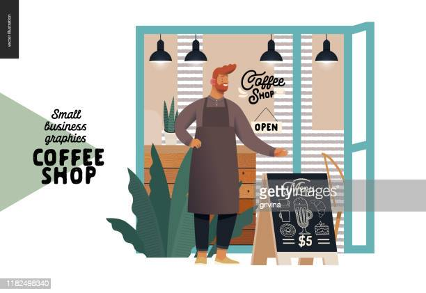 Coffee shop - small business graphics - cafe owner