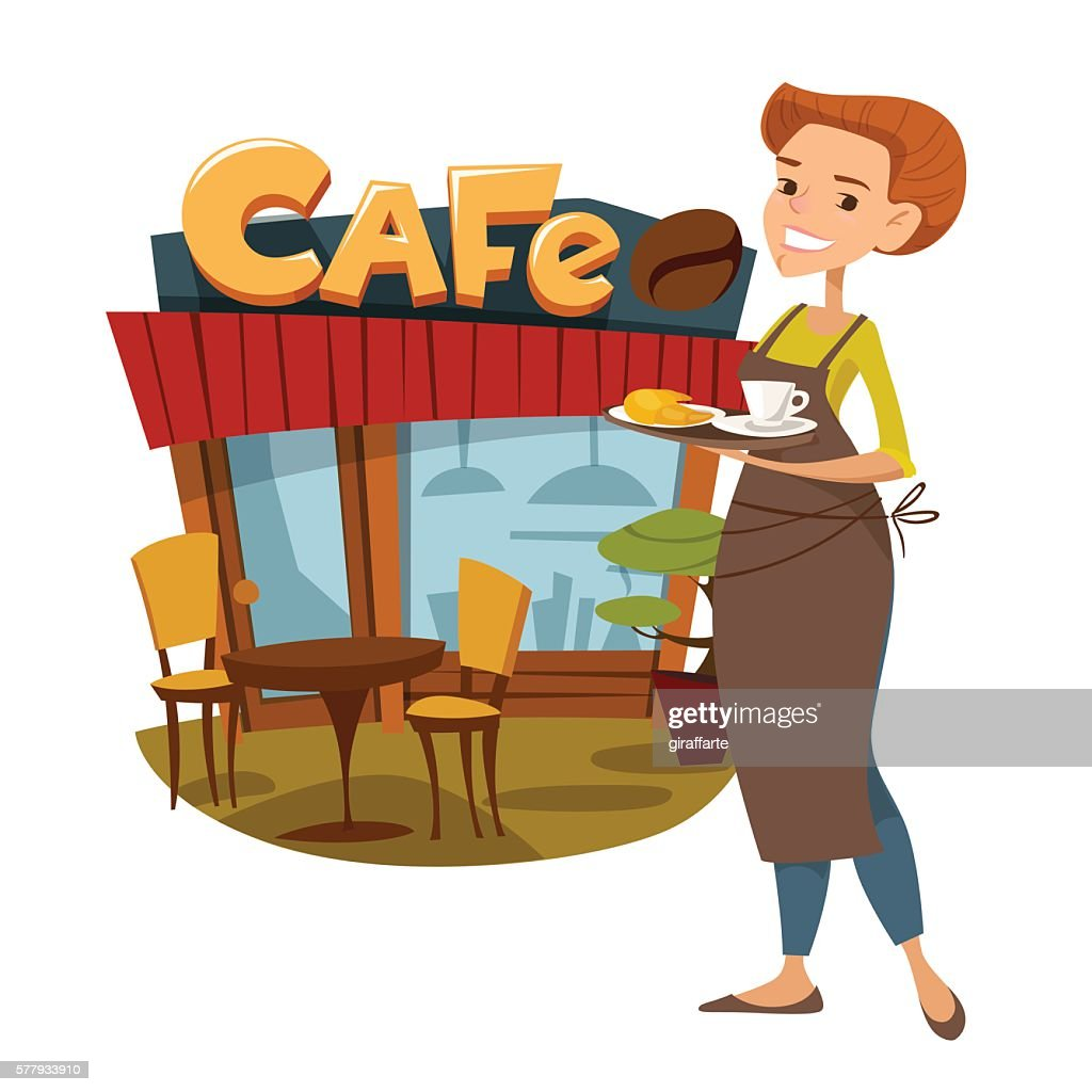 Coffee shop with waiter