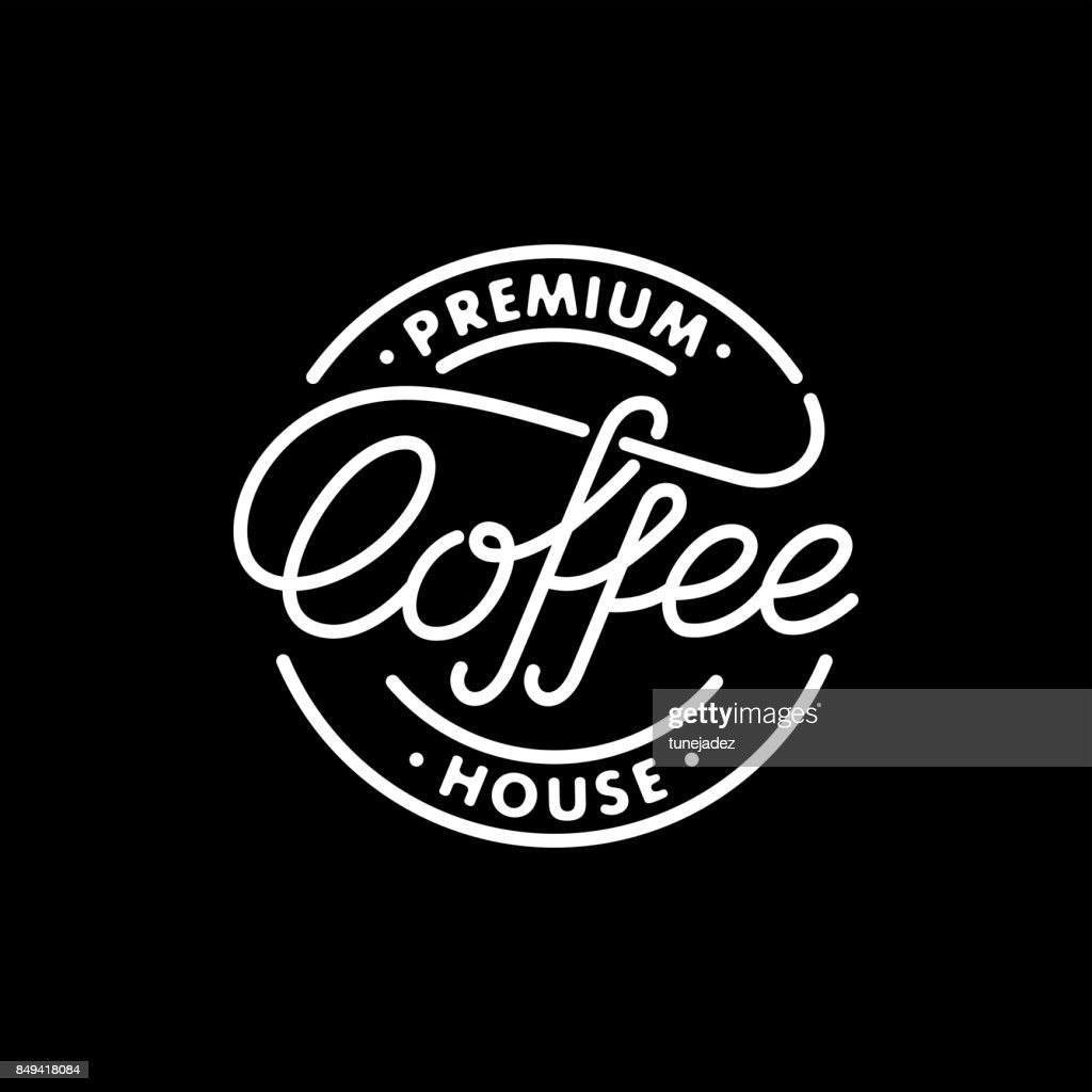 Coffee stamp black