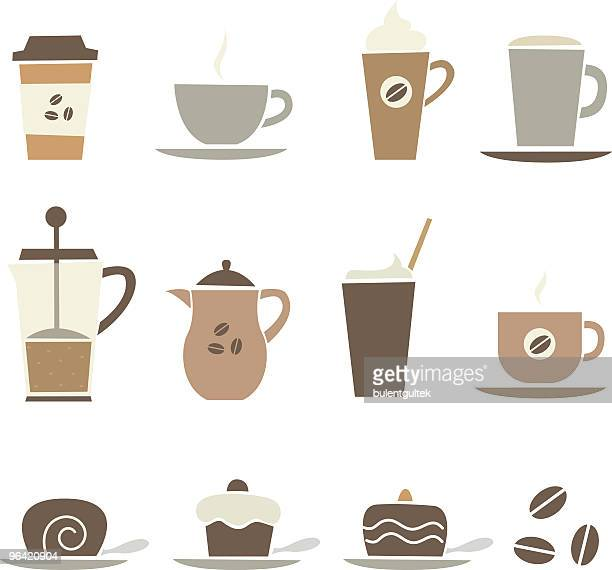 coffee stuff - whipped cream stock illustrations, clip art, cartoons, & icons