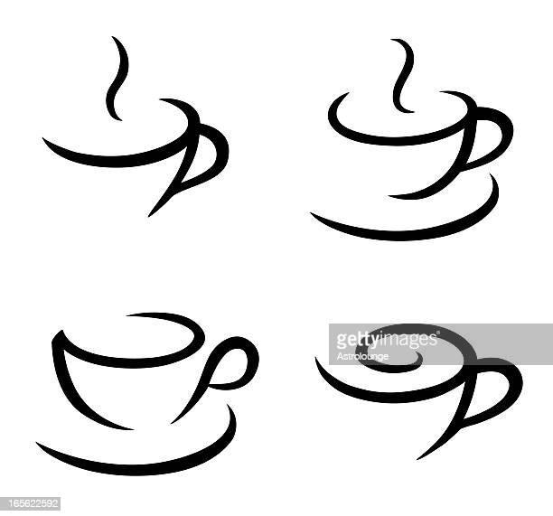Kopje Thee Kleurplaat Kaffekopp Bildbanker Med Illustrationer Och Tecknat