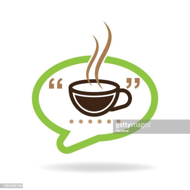 coffee talk - female friendship stock illustrations