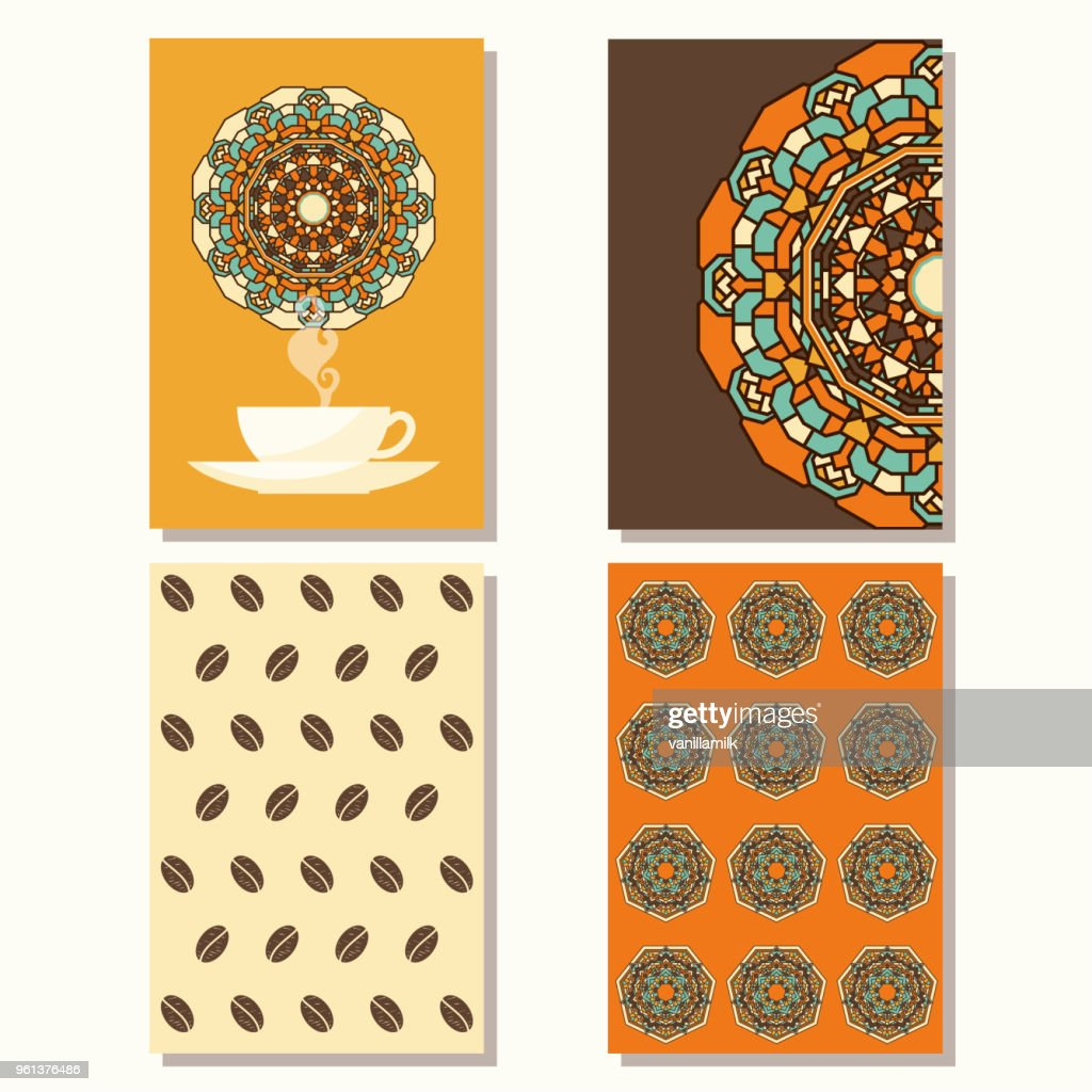 Coffee theme. Hand drawn doodle sketch coffee backgrounds collection.