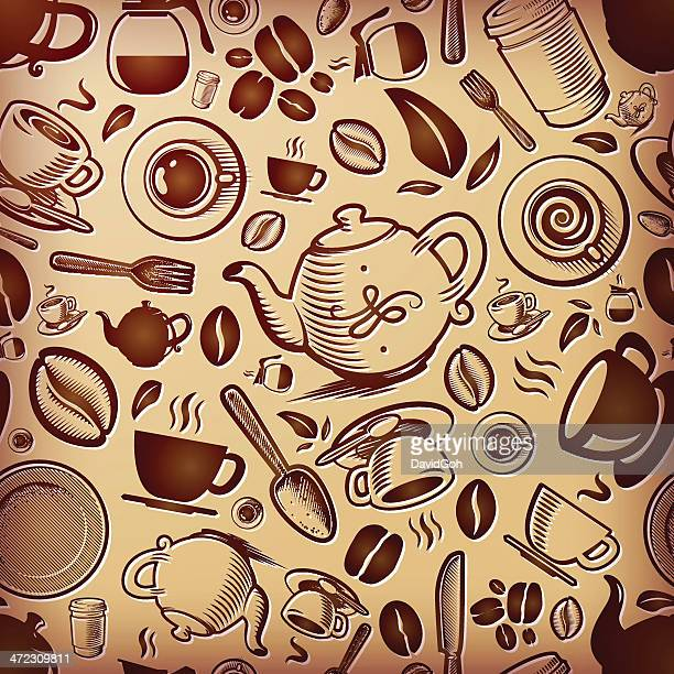 Coffee Themed Texture, Tilable