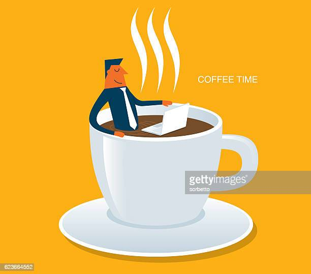 stockillustraties, clipart, cartoons en iconen met coffee time - food and drink