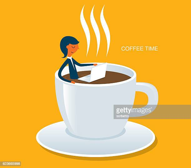 coffee time - coffee break stock illustrations, clip art, cartoons, & icons