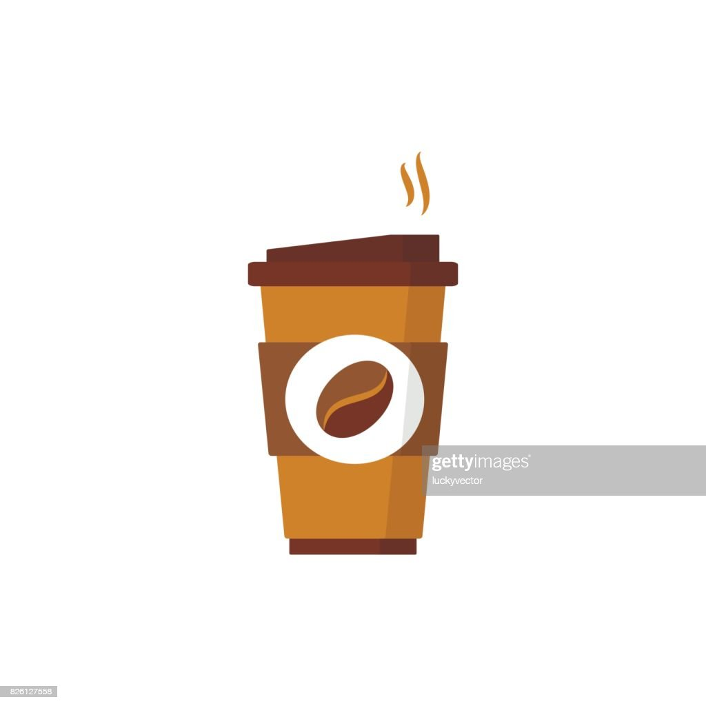 Coffee to go icon. Paper cup icon for web and graphic design.