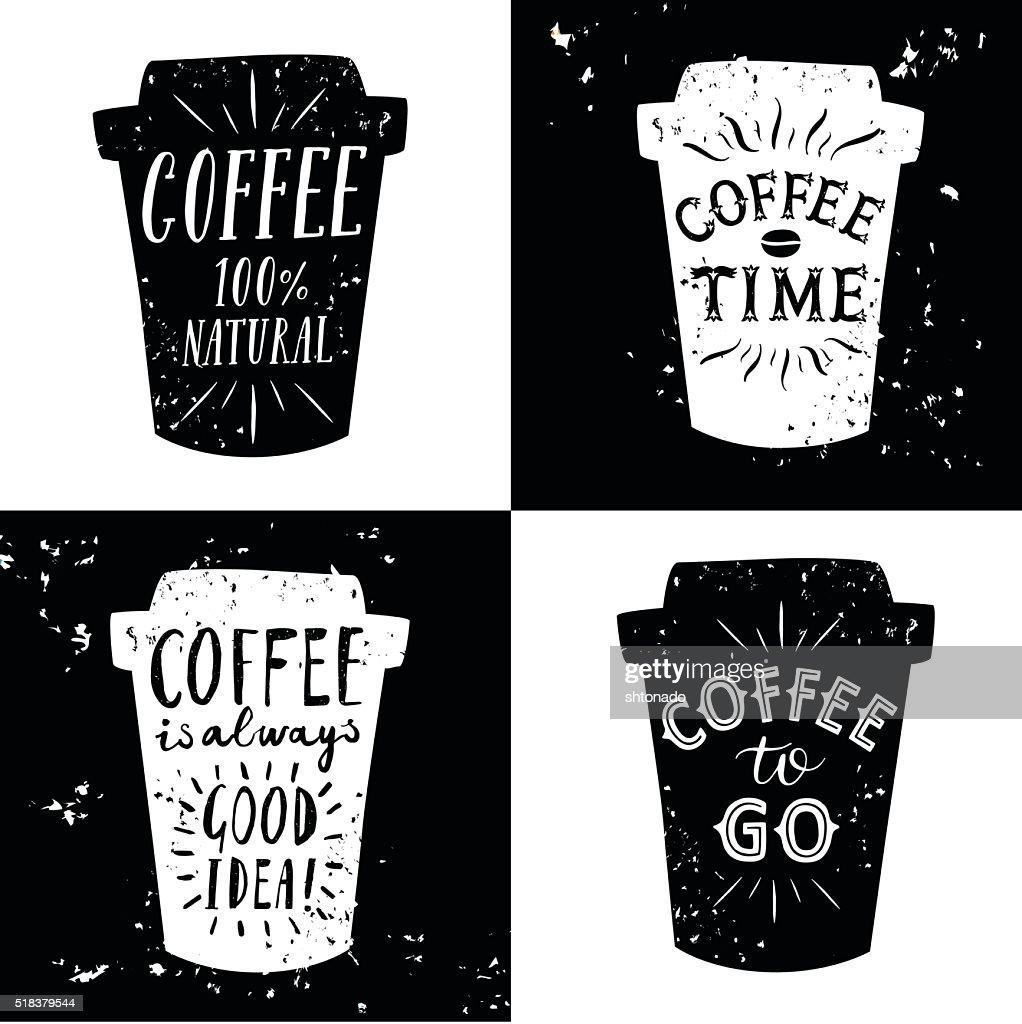 Coffee to go illustrations set