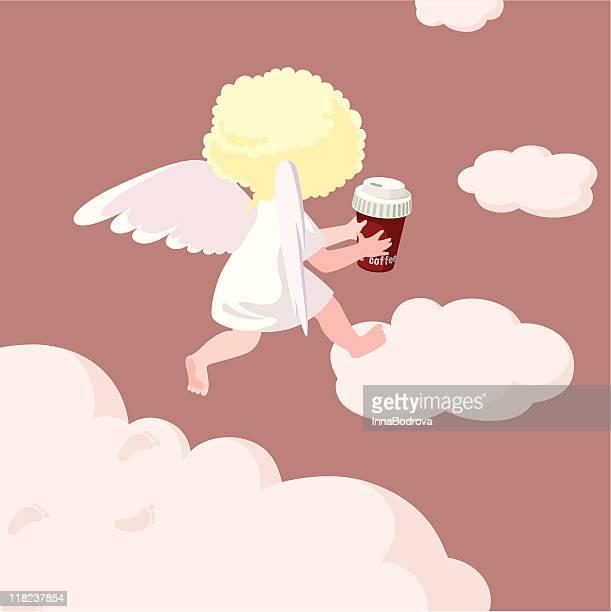 ilustrações de stock, clip art, desenhos animados e ícones de café para ir. - angel hot