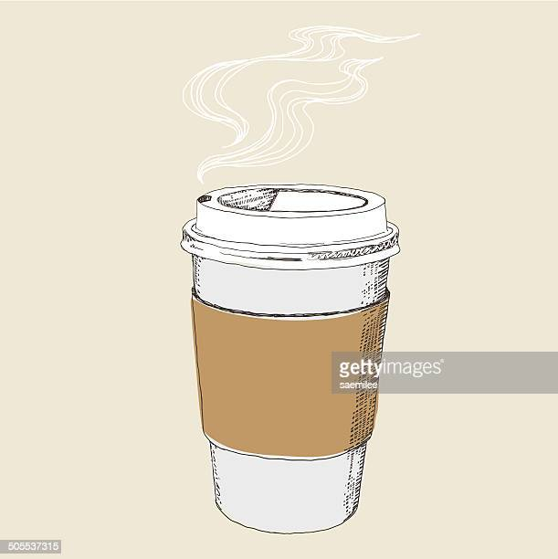 coffee to go - smoke stock illustrations, clip art, cartoons, & icons