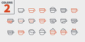 Coffee Types Food UI Pixel Perfect Well-crafted Vector Thin Line Icons 48x48 Ready for 24x24 Grid for Web Graphics and Apps with Editable Stroke. Simple Minimal Pictogram Part 1-1