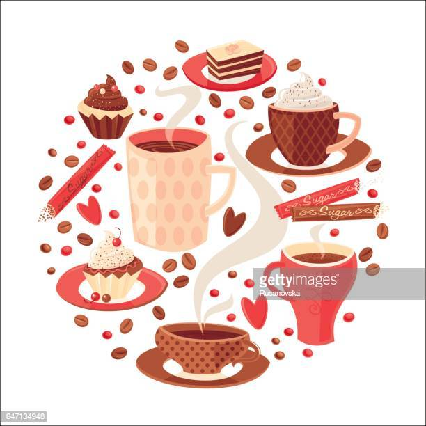 coffee - hot drink stock illustrations, clip art, cartoons, & icons