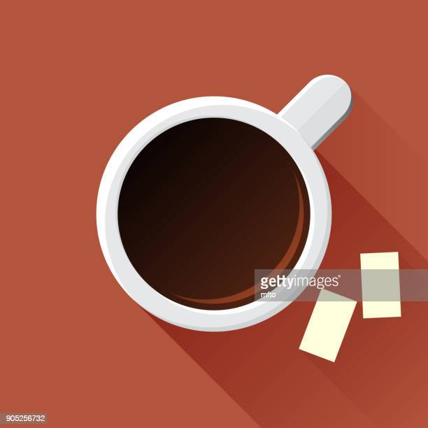 coffee - sugar cube stock illustrations, clip art, cartoons, & icons